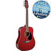 Stagg Dreadnought Acoustic Guitar - Red