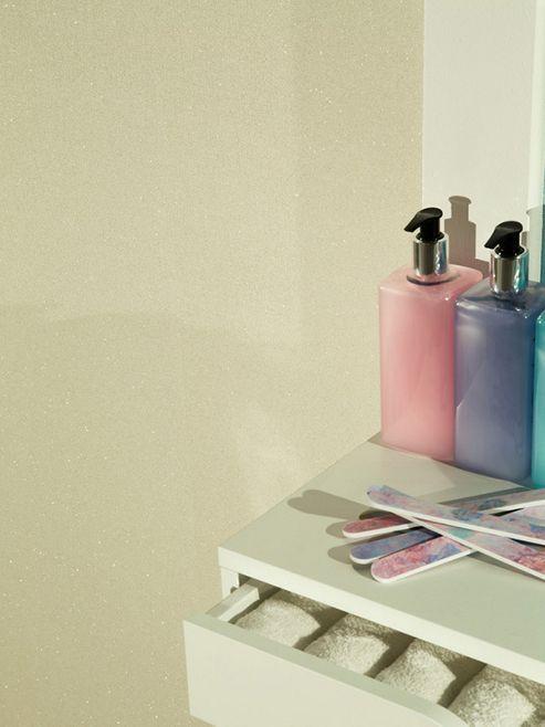 Glitterati Cream Glitter Wallpaper Arthouse 892104