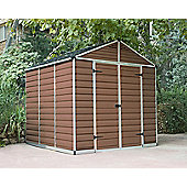 Palram Skylight Amber Plastic Shed, 8x8ft