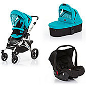 ABC Design Mamba 3 in 1 Pram Travel System - Coral (Silver Frame)