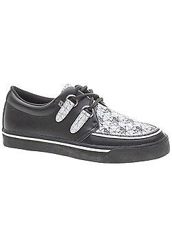 TUK 2 Ring Scratch Skulls Shoes - Black