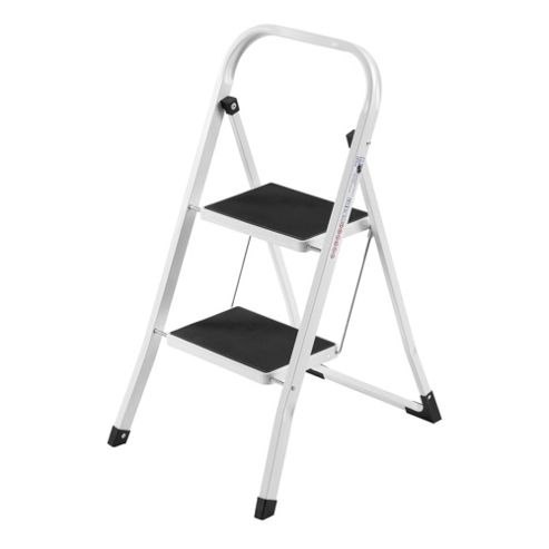 VonHaus 2 Step Ladders Folding Portable Heavy Duty Steel