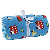 Tesco Transport Baby Fleece Blanket