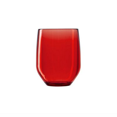Italesse Party Tumbler 420cc Unbreakable Policrystal Red x2