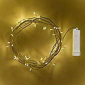 48 Warm White LED Outdoor Battery Fairy Lights