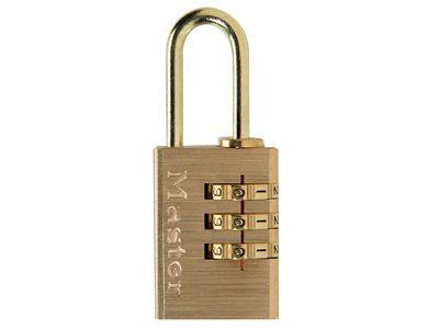 Master Lock Brass Finish 20mm 3-Digit Combination Padlock