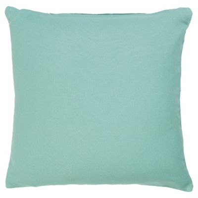 Tesco Value Cotton Cushion, Duck Egg