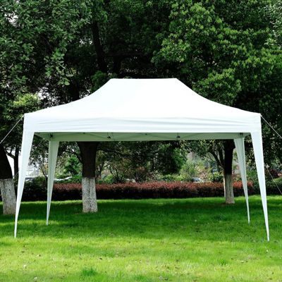 Outsunny 3m x 4.5m Pop Up Gazebo Canopy Water Resistant + Storage Bag (Blue)