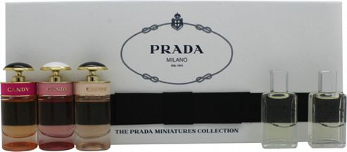 Prada Women Miniature Gift Set 8ml Infusion d'Iris EDP Fleur d'Oranger + 8ml Infusion d'Iris EDP + 7ml Prada Candy EDP + 7ml Prada Candy L'Eau EDT +