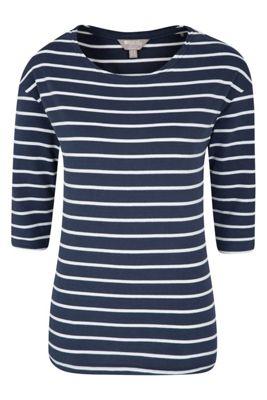 Mountain Warehouse Salcombe Stripe _ Sleeve Womens Top ( Size: 10 )