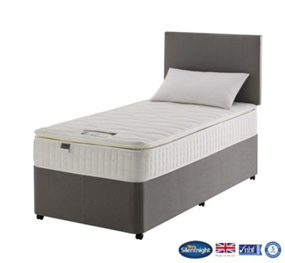 Silentnight Spencer Single Divan Bed, Non-Storage, 1000 Pocket Luxury Memory Pillow Top