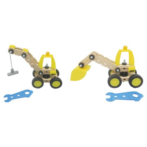 Carousel Wooden Build your own Digger & Crane