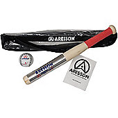 Aresson Autocrat Plus Rounders Bat & Ball Set With Carry Bag