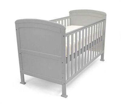 Penelope - Cot Bed/Toddler Bed W/ Sprung Mattress & Teething Rails - Grey