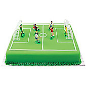 PME Football Players, Referee, Goal Keepers and Goal Posts Cake and Cupcake Toppers, Plastic, 9 Piece Set