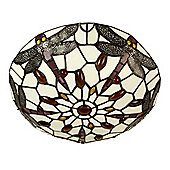 Traditional Stained Glass Ceiling Light Fitting & Dragonfly Design