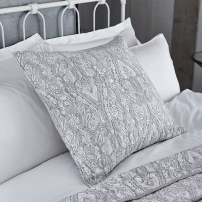 Bianca Printed Cotton Soft European Grey Pillowsham