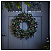 Traditional Christmas Wreath with Pinecones and Berries, 45cm