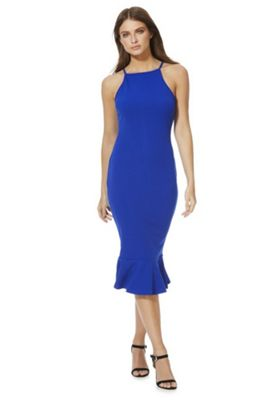 AX Paris Frill Hem Midi Dress Cobalt Blue 8