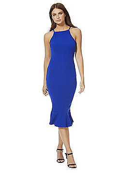 AX Paris Frill Hem Midi Dress - Cobalt Blue