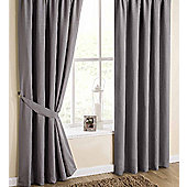 Utah Pencil Pleat Curtains, Dove 168x183cm