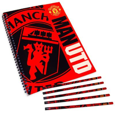 Manchester United FC Notepad & Pencils