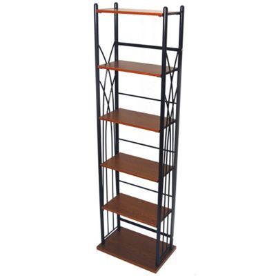 Techstyle 100 DVD / 150 CD Storage Tower Shelves - Black