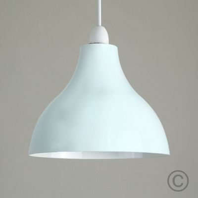 Minisun Dexter Industrial Pendant Light Shade - Duck Egg Blue