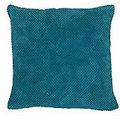 Mason Grey Chenille Spot Teal Cushion Cover - 43x43cm