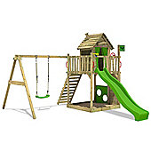 Fatmoose HappyHome Hot XXL Climbing Frame Apple Green Slide With Swing