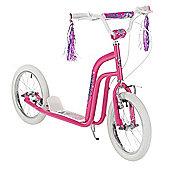 "Concept Princess Girls 16"" Pneumatic Wheel BMX Style Push Kick Scooter Pink"
