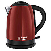 Russell Hobbs Dorchester Kettle, Red, 1.7 Litre, 3000 Watt