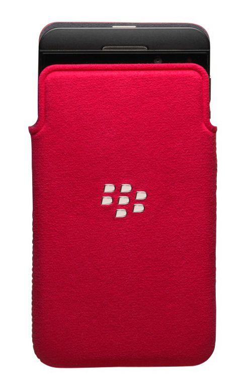 BlackBerry Microfibre Smartphone Pocket for BlackBerry Z10 - Red