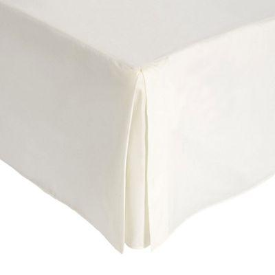 Julian Charles Cream Luxury 180 Thread Count Valance Sheet - Single