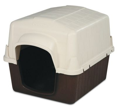 Petmate Barn 3 Single Pick* Dog Kennel in Almond and Cocoa Brown - Medium (81cm L x 66cm W x 61cm H)