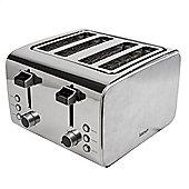 Igenix IG3204 4 Slice Toaster - Brushed and Polished Stainless Steel