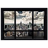 New York City Black Wooden Framed New York View Poster