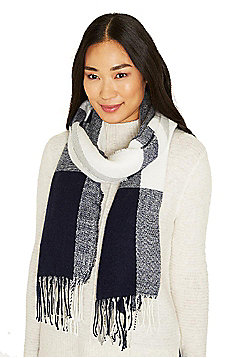 F&F Large Check Fringed Scarf - Multi