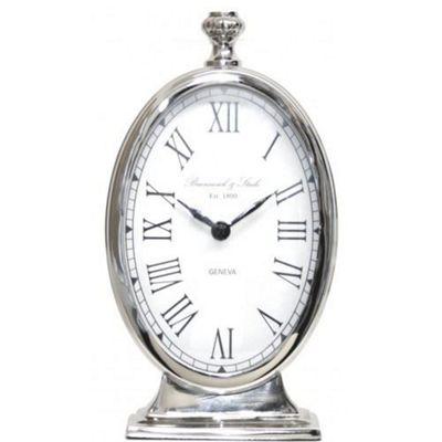 Stylish Nickel Tall Oval Table Clock Living Room Home Decor
