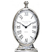 Stylish Nickel Tall Oval Table Clock Living Room Home Decor