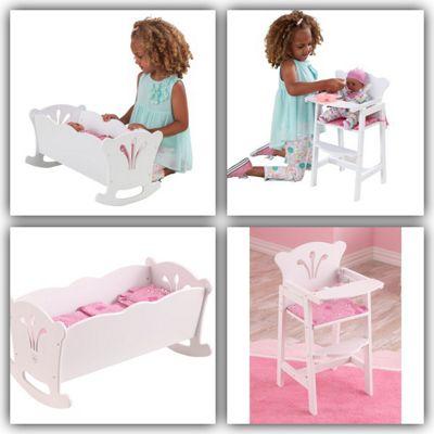 Kidkraft Lil Doll Set - Cradle and Highchair
