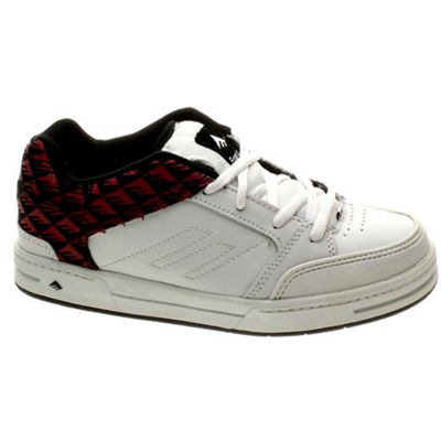 Emerica Heritic 3 Youth White/Black/Red Shoe