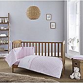 Clair de Lune 2pc Cot/Cot Bed Bedding Set (Speckles Pink)