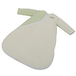 Purflo Jersey Cotton/Bamboo lining Baby Sleepsac 2.5 TOG 3-9 mths Moss Green Spot/Stripe
