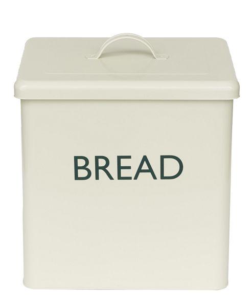 Enamel Coated Bread Bin - Champagne