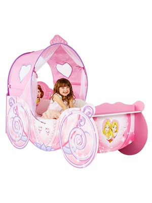 Disney Princess Carriage Feature Toddler Bed & Deluxe Foam Mattress
