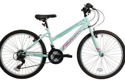 Falcon Aurora 24 Inch Girls Mountain Bike 18 Speed Gears Mint Green - MV Sports