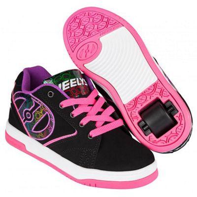 Heelys Propel 2.0 Black/Pink/Purple Kids Heely Shoe UK 3