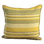 Homescapes Cotton Striped Yellow Cushion Cover Morocco , 45 x 45 cm