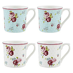 Floral Palace Mugs 4pk
